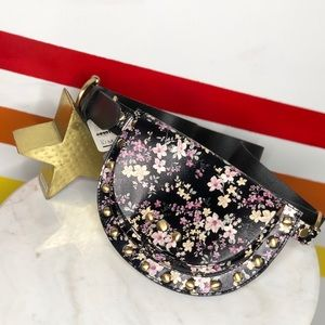 NEW Free People Fiona floral studded belt bag